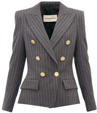 Alexandre Vauthier Double-breasted Pinstriped Wool-blend Blazer - Womens - Grey Multi