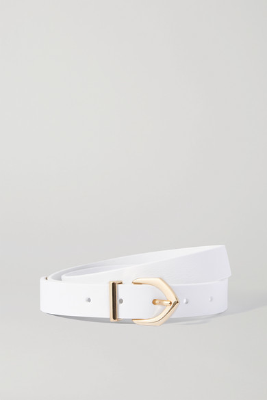 Thumbnail for your product : Andersons Textured-leather Belt - White