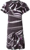 Y-3 light print drop waist pleated dress