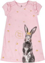 Petit Lem Bunny Crown Knit Nightgown, Pink, Size 2-4T