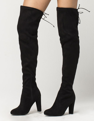 Wild Diva Over The Knee Heeled Womens Boots