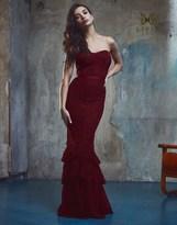 Lipsy Vip Lace Fishtail Bandeau Maxi Dress