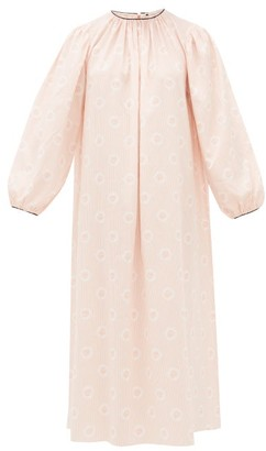 Emilia Wickstead Theodora Logo-printed Striped Cotton Nightdress - Pink