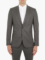 Paul Smith Grey Checked Wool Blazer