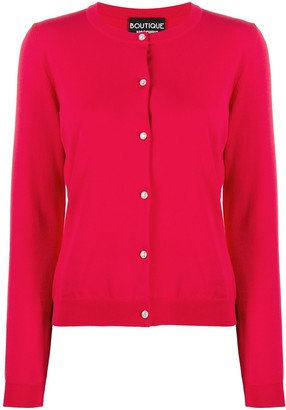 Boutique Moschino Knit Button-Up Cardigan