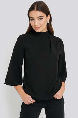 NA-KD High Neck Wide Sleeve Blouse