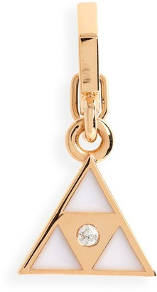 Harwell Godfrey Open Bale Triangle Enhancer Pendant with Diamond