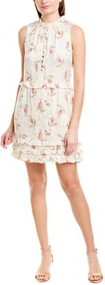 Rebecca Taylor Ivie Silk-Blend Mini Dress