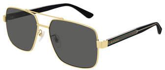 a30bda2b7aba Gucci Gray Men's Sunglasses - ShopStyle