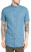 Zanerobe Men's 7 Ft Facet Longline Print Woven Shirt
