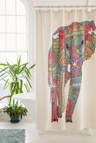 DENY Designs Sharon Turner For DENY Painted Elephant Shower Curtain