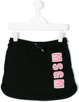 MSGM logo appliqué skirt - kids - Cotton - 4 yrs