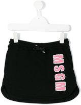 MSGM logo appliqué skirt