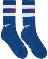 Vetements Blue Reebok Edition Tennis Socks