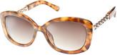 Nine West Women's Sunglasses TORT - Brown Tortoise Grommet-Accent Oversize Sunglasses