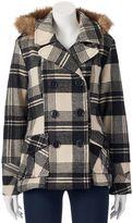 Urban Republic Juniors' Wool Blend Peacoat