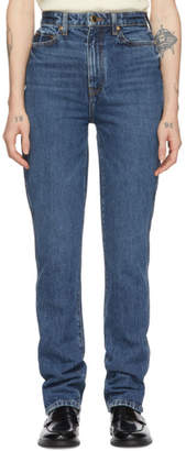 KHAITE Blue The Daria Jeans