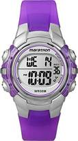 Timex Girl's Quartz Watch with LCD Dial Digital Display and Purple Resin Strap T5K816
