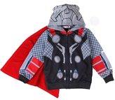 MITIAO Little Boy Cartoon Character Zip Up Hooded Sweatshirts Hulk