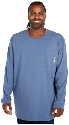 Timberland Extended Base Plate Long Sleeve T-Shirt (Vintage Indigo) Men's Clothing