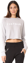Baja East LS Cropped Sweatshirt
