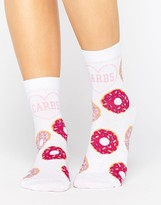 Asos Anti Valentines Love Carbs Ankle Socks