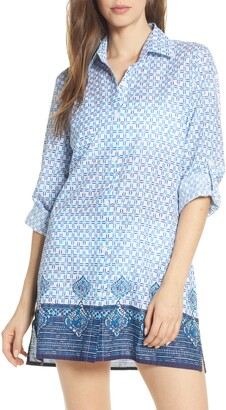 Tommy Bahama Floral Isles Cover-Up Boyfriend Shirt
