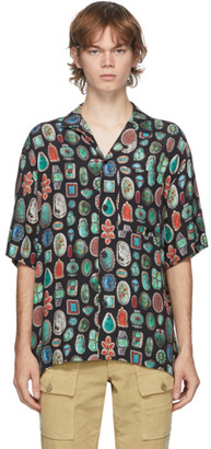 Palm Angels Multicolor Jewels Bowling Short Sleeve Shirt