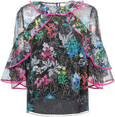 Peter Pilotto floral ruffled blouse - women - Silk - 12