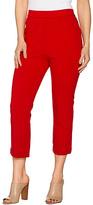 Shape Fx Tango Red Slim-Leg Cropped Pants - Plus Too