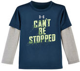 Under Armour Boys 2-7 Mock Layer Text Graphic Tee