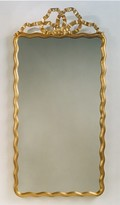 The Well Appointed House Carvers Guild Scalloped Ribbon Mirror in Antique Gold Leaf