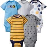 Gerber Unisex-Baby Newborn 5 Pack Neutral Variety Onesie