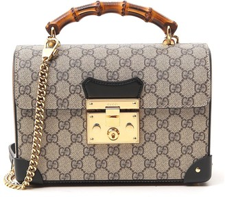 Gucci GG Monogram Print Padlock Shoulder Bag