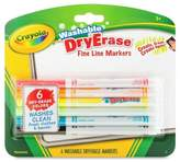 Crayola® Dry Erase Markers Fine Line Washable 6ct