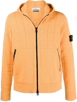 Stone Island Hooded Zip-Front Cardigan