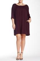 BB Dakota Garland Elbow Sleeve Shift Dress (Plus Size)