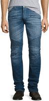Hudson Blake Slim Moto Jeans, Blue