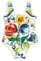 Dolce & Gabbana Baby's One-Piece Tile-Print Swimsuit