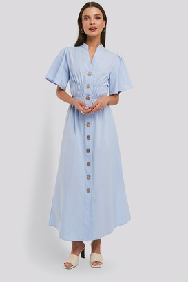 NA-KD Cinched Waist Maxi Shirt Dress