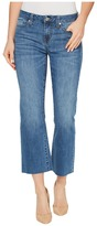 Liverpool Hannah Cropped Raw Hem Flare on Vintage Super Comfort Stretch Denim in Claremont Light Women's Jeans