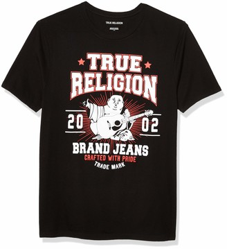 True Religion Men's Buddha Short Sleeve Crewneck Tee