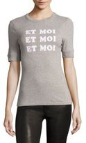 Frame Et Moi Fitted Ringer T-Shirt