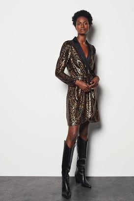 Karen Millen Sequin A-Line Dress