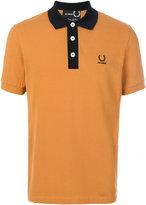 Fred Perry contrast collar Pique polo shirt - men - Cotton - 36