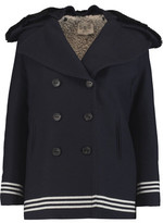 Sea Shearling-Trimmed Wool-Blend Twill Coat