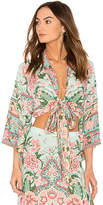 Spell & The Gypsy Collective Lotus Kimono Top in Mint. - size Aus 10/US M (also in Aus 12/US L,Aus 6/US XS,Aus 8/US S)