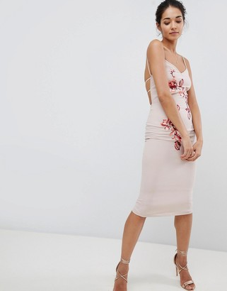 Hope & Ivy Embroidered Cami Dress