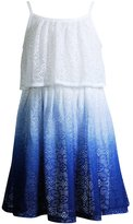 Youngland Girls 4-6x Dip-Dyed Lace Knit Popover Dress