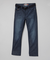 Monarchy Blue & Navy Belted Jeans - Boys